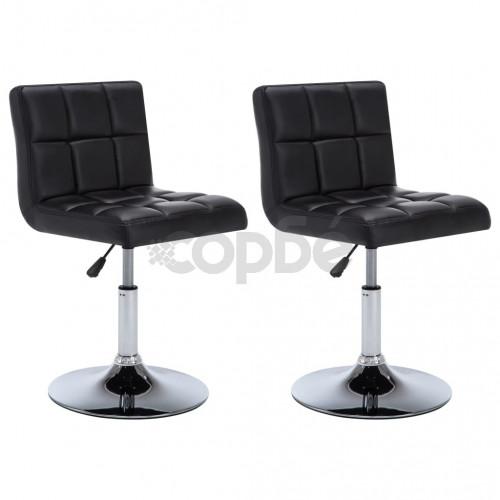 Въртящи трапезни столове 2 бр изкуствена кожа 50x43x85 см черни