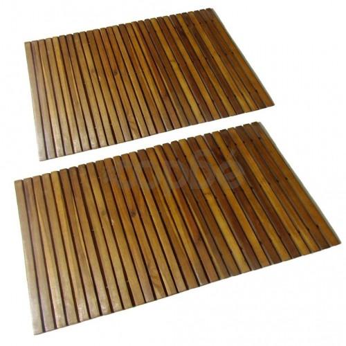 Постелки за баня, акациево дърво, 2 бр, 80 x 50 см