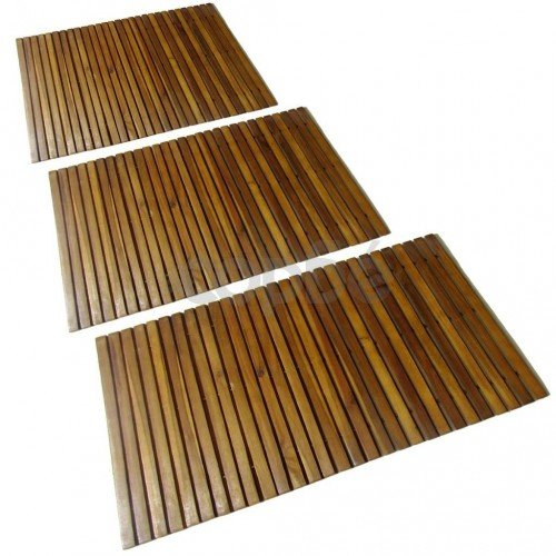 Постелки за баня, акациево дърво, 3 бр, 80 x 50 см