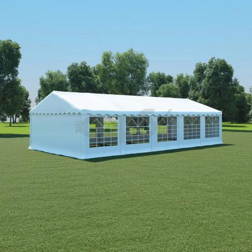 Градинска шатра, PVC, 5x10 м, бяла
