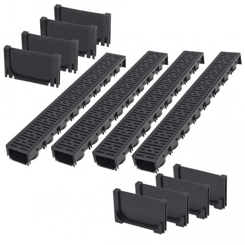 Дренажни канали, пластмаса, 4 м