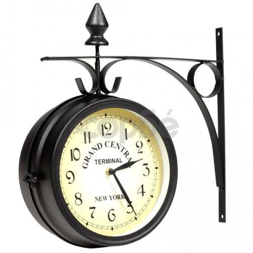 Двустранен стенен часовник, 20 см