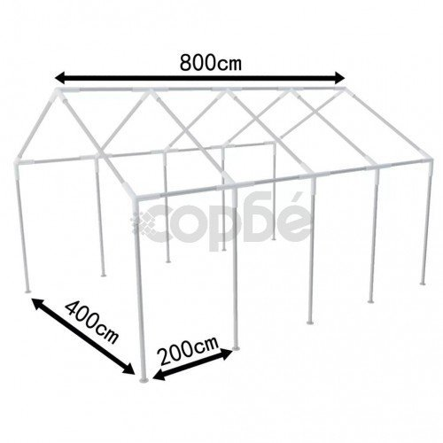 Стоманена рамка, подходяща за палатка 8х4 м