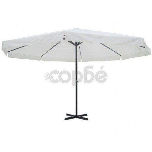 Чадър за слънце, 500 см, бял