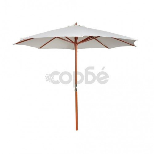 Чадър за слънце, 300х258 см, бял