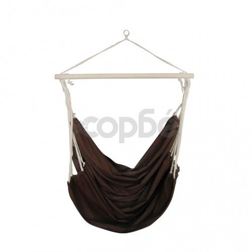 Люлеещ се стол / хамак, кафяв, голям, от плат