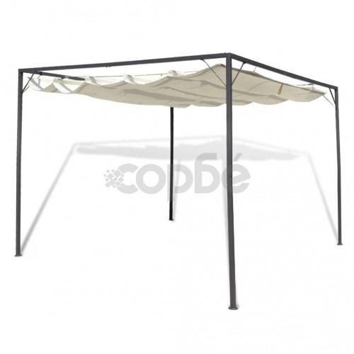 Градинска шатра с подвижен покрив