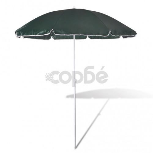 Плажен чадър, 180 см, зелен