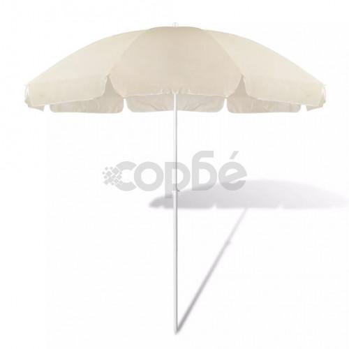 Плажен чадър, 240 см, пясъчножълт