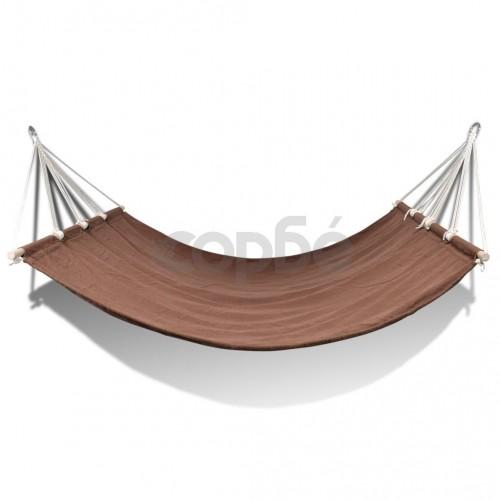 Хамак с дървени летви, 210 x 150 см, кафяв