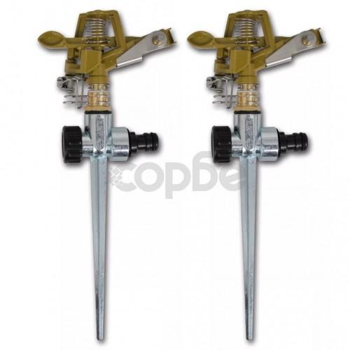 Импулсни разпръсквачи за напояване, цинк, метален клин - 2 бр.