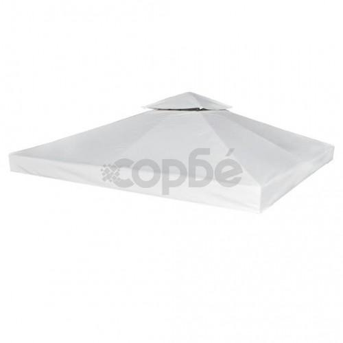 Покривало за шатра, резервно, кремаво-бяло, 310 г/м², 3х3 м