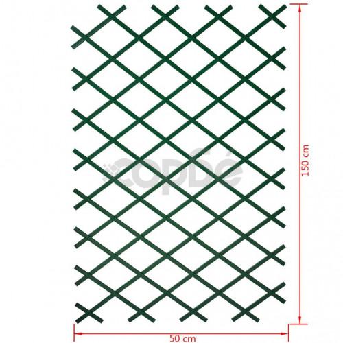 Nature Градинска пергола, 50x150 см, PVC, зелена, 6040702