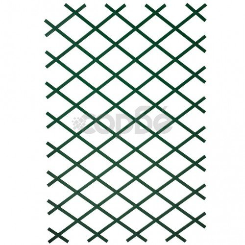 Nature Градинска пергола, 100x200 см, PVC, зелена, 6040704