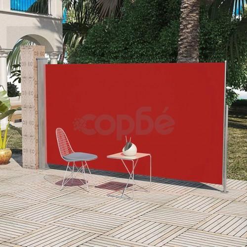 Странична тента за тераса, 160 x 300 см, червена