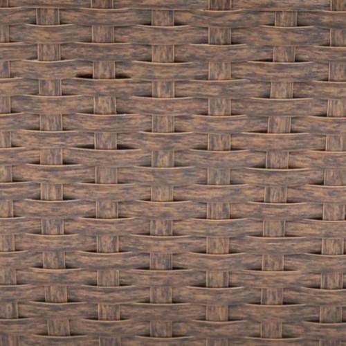 Трапецовидни ратанови сандъчета за балкон, кафяви, 50 см – 2 бр.