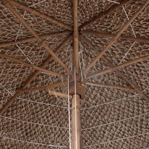 Бамбуков чадър, 270 см, покрив от бананови листа