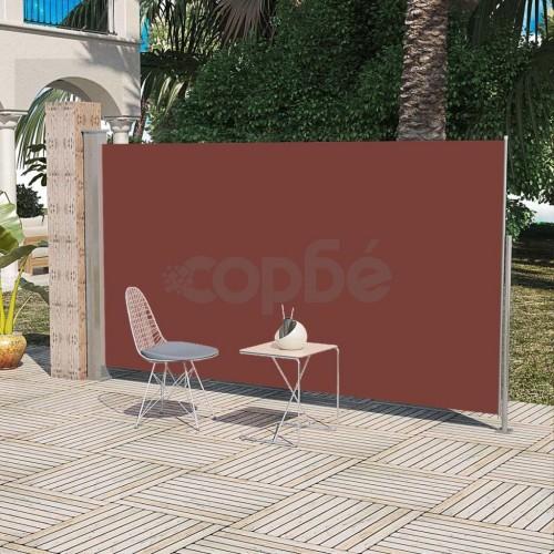 Странична прибираща се тента за тераса, 160 x 300 см, кафява