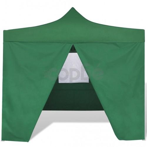Сгъваема шатра 3 х 3 м, с 4 стени, зелена