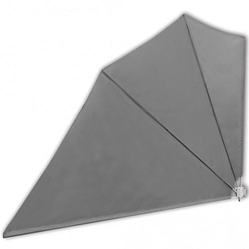 Странична тента за тераса, сгъваема, 160 x 240 см, сива