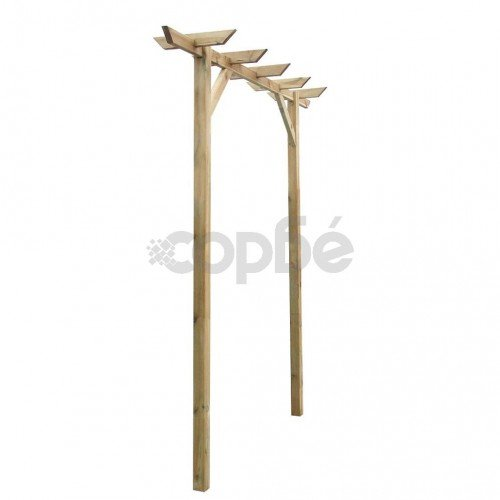 Градинска пергола, 200x40x205 см, дърво