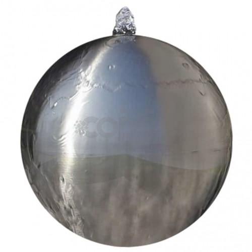 Градинска сфера за фонтан с LED, неръждаема стомана, 20 см