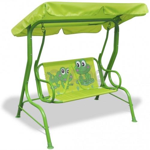 Детска градинска люлка, зелена
