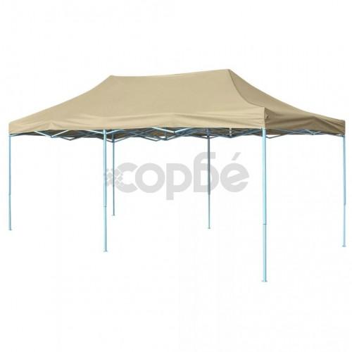 Сгъваема шатра, 3х6 м, кремавобяла