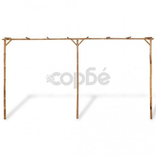 Пергола от бамбук, 385x40x205 cм
