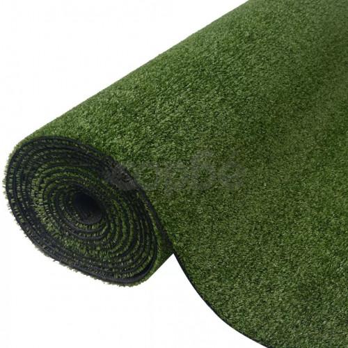 Изкуствена трева, 1x10 м / 7-9 мм, зелена