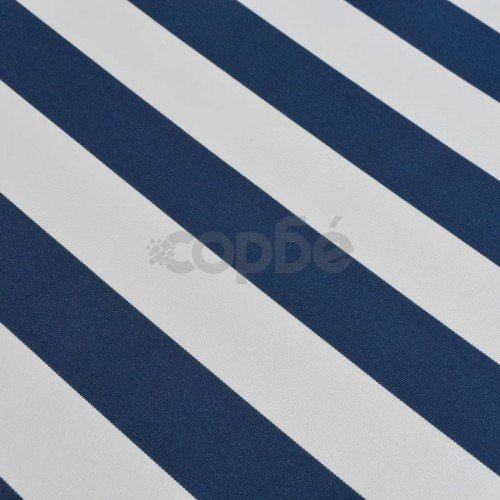 Сенник, прибиращ се, с ръчно задвижване, 600 см, синьо и бяло