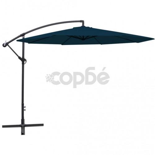 Свободновисящ чадър за слънце, 3.5 м, син