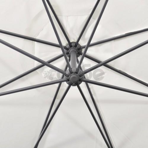 Свободновисящ чадър, 3,5м, бял