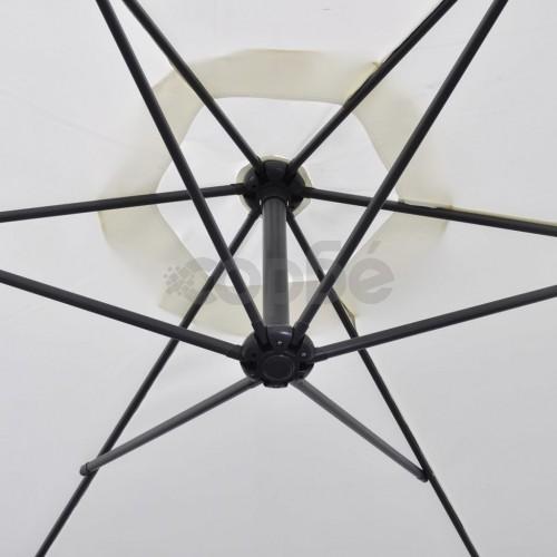 Свободновисящ чадър, 3 м, пясъчно бял