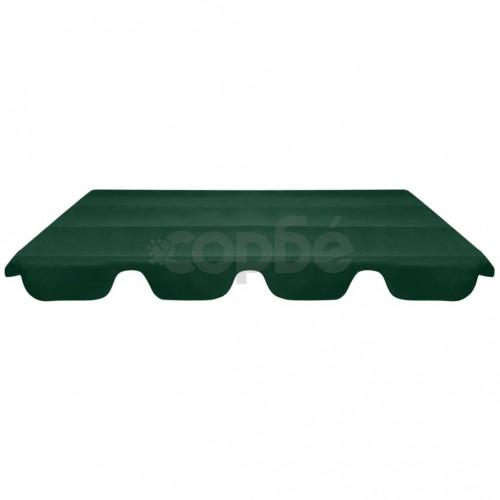Резервен покрив за градинска люлка, зелен, 226x186 cм