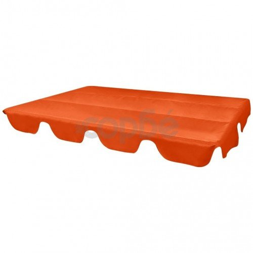 Покривен навес за градинска люлка, оранжев, 249x185 cм