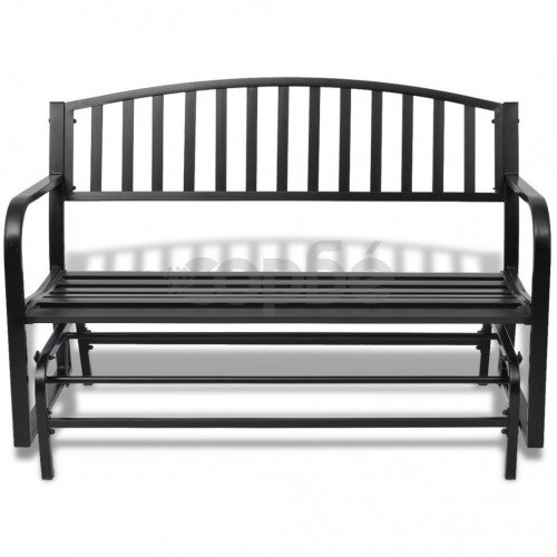 Люлееща се пейка, черна стомана