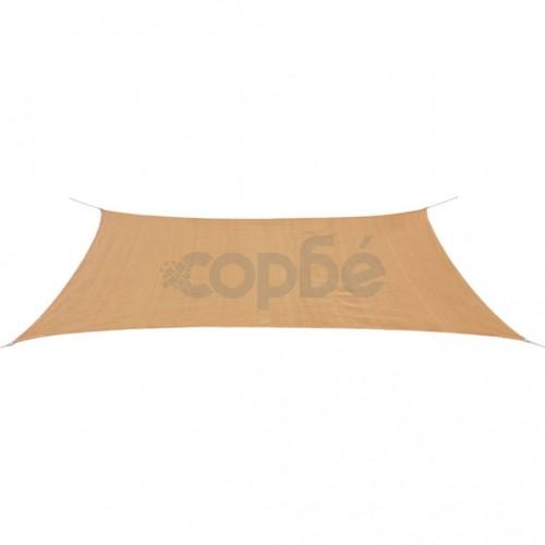 Платно-сенник, HDPE, правоъгълно, 4x6м, бежово