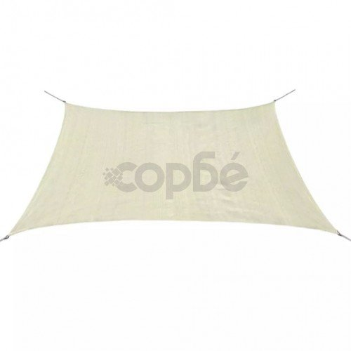 Слънцезащитно платно, HDPE, квадратно, 3.6x3.6 м, кремаво