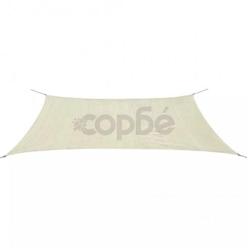 Платно-сенник, HDPE, правоъгълно, 4x6 м, кремаво