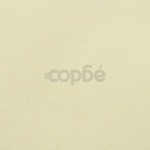 Балконски екран от оксфорд плат, 90x600 см, кремав