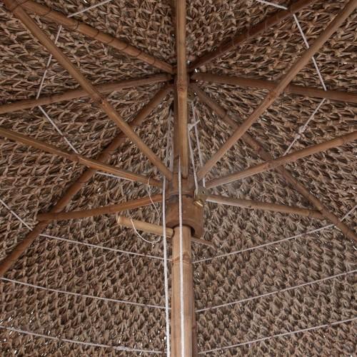 Бамбуков чадър с покрив от бананови листа, 210 см