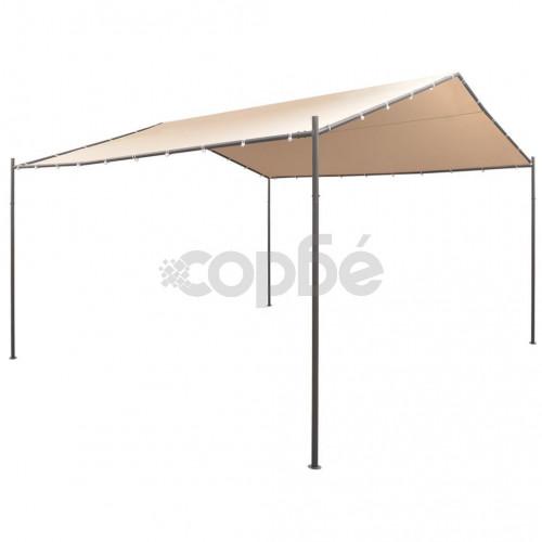 Шатра / беседка, с покрив, 4x4 м, стомана, бежова