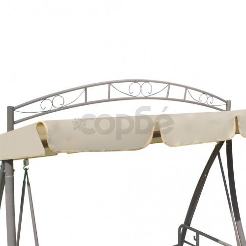 Конвертируема градинска люлка със сенник, пясъчнобяла