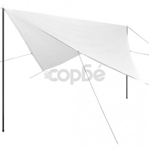 Сенник Tarp с рейки, HDPE, квадратен, 5x5 м, бял