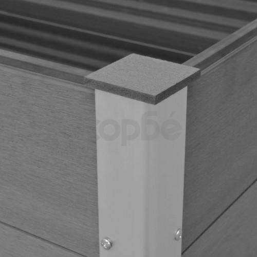 Градинска повдигната леха, WPC, 100x50x54 см, сива
