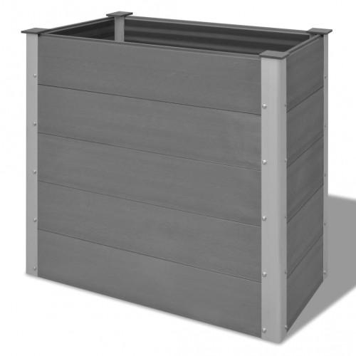 Градински плантер, WPC, 100x50x91 см, сив