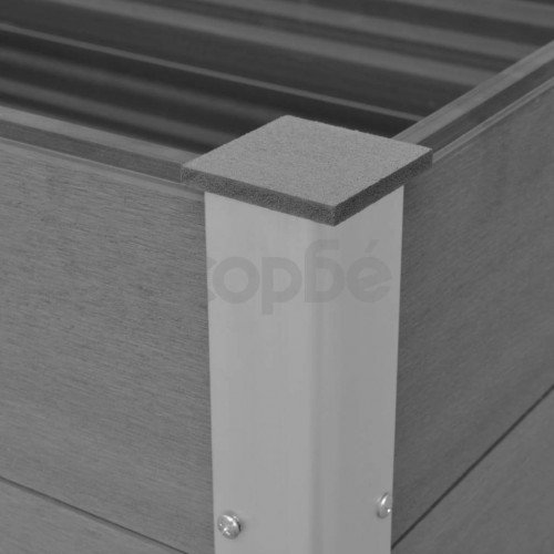 Градинска повдигната леха, WPC, 100x100x91 см, сива