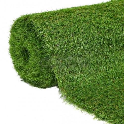 Изкуствена трева, 1,5x5 м / 40 мм, зелена