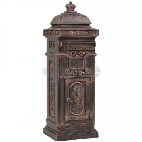Алуминиева пощенска кутия стълб винтидж стил неръждаема бронз